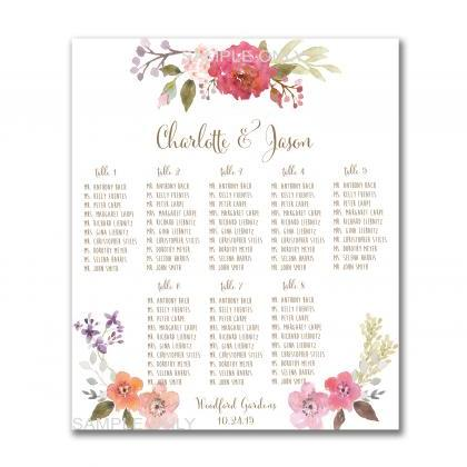 Wedding Seating Chart Free Printable Wedding Invitation Sample – Free Printable Seating Chart