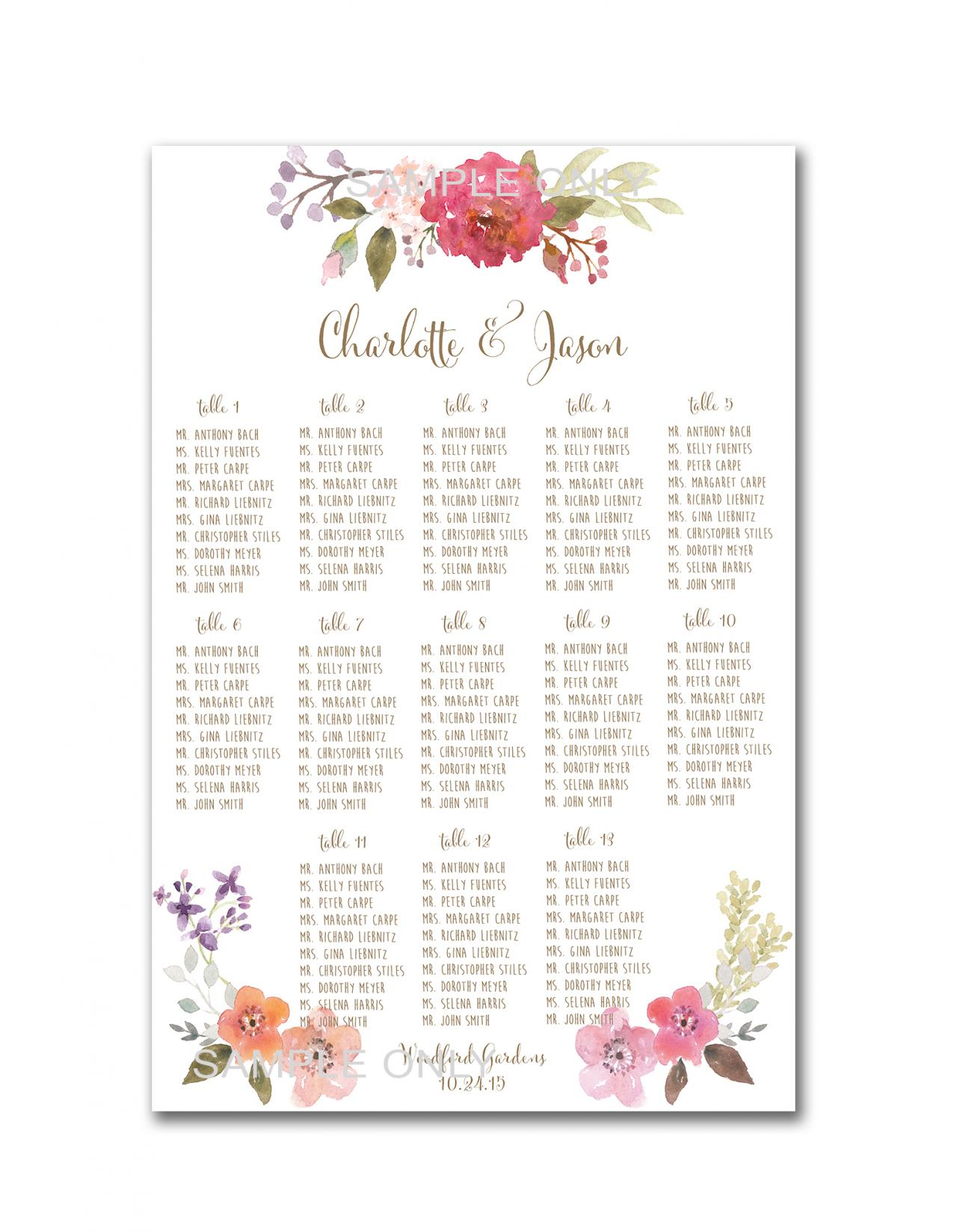 wedding seating chart printable – Free Printable Seating Chart
